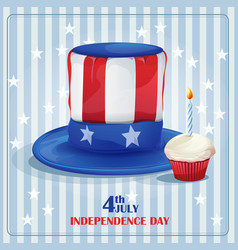 Greeting card for Independence Day on July 4 vector image