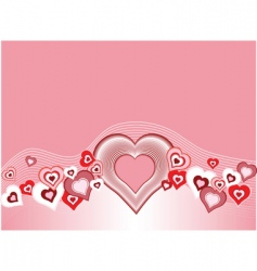 heart and wave background vector image vector image