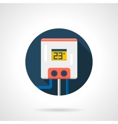 Hot-water tank round color flat icon vector