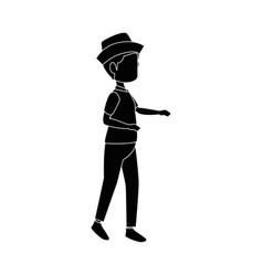 Isolated peasant man standing vector