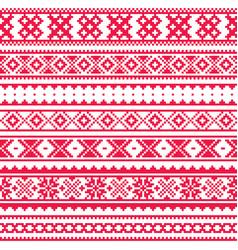 lapland traditional red folk art design sami vector image vector image