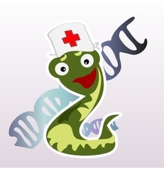 Little doctor snake on a white background vector