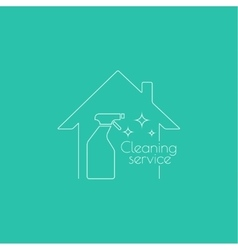logo with clean house vector image vector image
