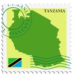 Mail to-from tanzania vector