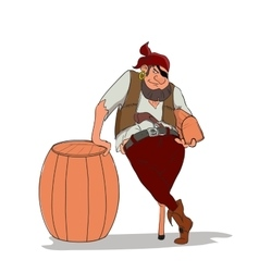 one-eyed and one-legged pirate holding vector image vector image