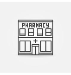 Pharmacy building icon vector