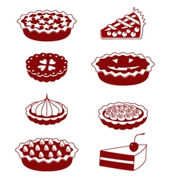 Pies and tarts vector image vector image