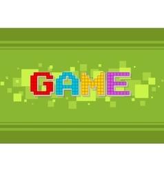 Pixel computer color game text screen vector