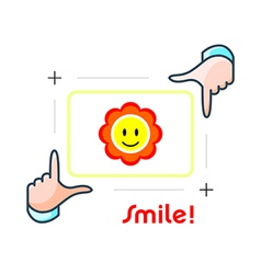 Smile and shot vector image