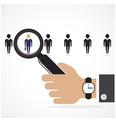 The choice of the best suited employee vector image vector image