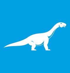 titanosaurus dinosaur icon white vector image