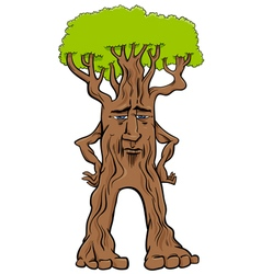 Tree creature fantasy character vector