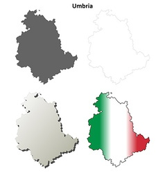 Umbria blank detailed outline map set vector image vector image