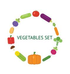 vegetarian food icon set vector image