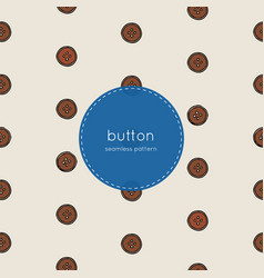 wood button seamless pattern vector image vector image