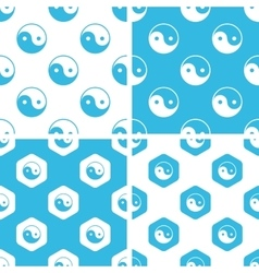 Ying yang patterns set vector