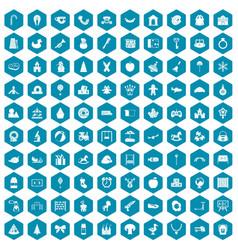 100 nursery school icons sapphirine violet vector