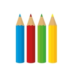 Set colors school paint design vector