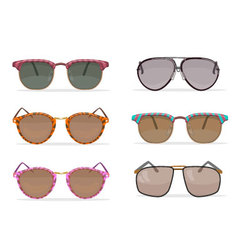 Old school sunglasses set vector