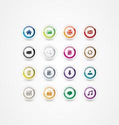 Multicolor web icons 2 vector image