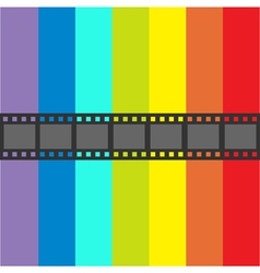 Film strip frame straight shape ribbon design vector