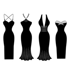 Woman dress silhouette vector