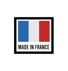 Made in france isolated label for products vector