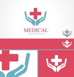 Medical pharmacy cross logo design template vector