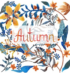 Watercolor natural pattern vector image