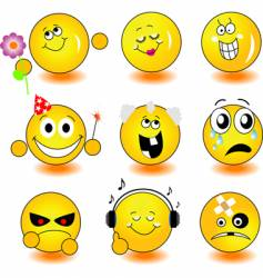 Yellow smileys vector