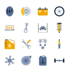 Car service flat icons set vector