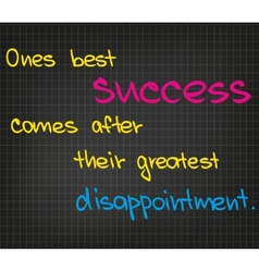 Best success vector