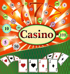 Poker casino cards the background gambling the sym vector