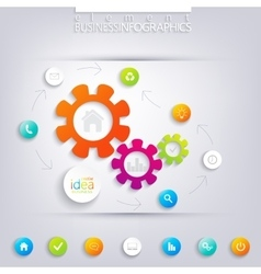 Modern infographic design can be used for workflow vector