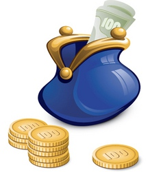 money bag vector image