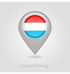 Luxembourg flag pin map icon vector