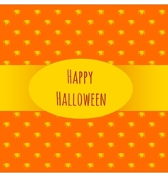 Card happy halloween on an orange background vector