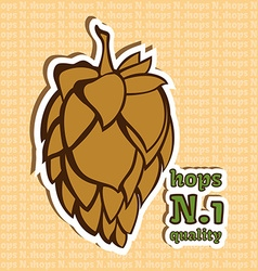 Hop flower number 1 quality beer ingredient vector