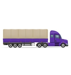 semi truck trailer 03 vector image