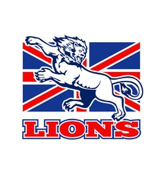 British lions flag vector