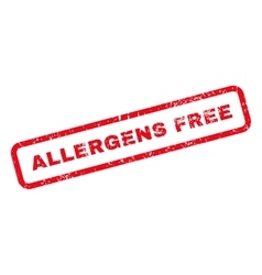 Allergens free text rubber stamp vector