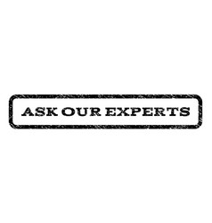 Ask our experts watermark stamp vector