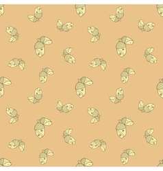 autumn seamless patterned background vector image