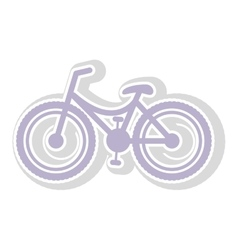 Bicycle contour in light purple with shadow vector