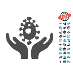 Biotechnology flat icon with free bonus elements vector