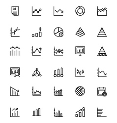 Business charts line icons 2 vector
