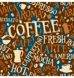 Coffee seamless tile vector