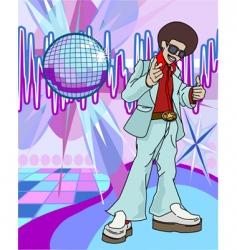 Disco man vector