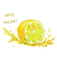 Drawing slice of lemon vector