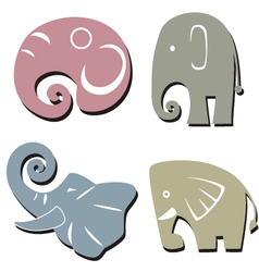 elephant graphic icon vector image vector image